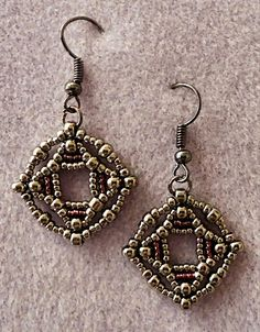 """SILVER WITH A MARCASITE LOOK   15/0 seed beads Miyuki """"Olivine"""" (15-458)  11/0 seed beads Miyuki """"Olivine"""" (11-458)  8/0 seed beads..."""