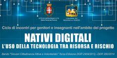"""Tre incontri di formazione sulla """"Rivoluzione Digitale"""" dal 5 novembre al 3 dicembre 2015. Progetto grafico comunicazione dell'evento a cura della studentessa Lara Tosato della 5 AP dell'Istituto Rosselli."""