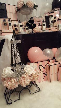 Diamant du Parris Inc. Chanel Birthday Party, 18th Birthday Party Themes, Sleepover Birthday Parties, Chanel Party, Birthday Party Snacks, 14th Birthday, Pink Birthday, Victoria Secrets, Victoria Secret Party