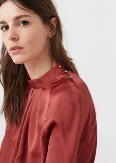 Buttoned flowy blouse - Shirts for Woman | MANGO Serbia