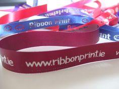 Double Face Satin Ribbon - Ribbon Print #branding #packaging #giftwrapping #ribbons #print #weddings