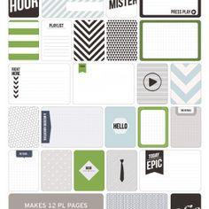 Man's World Themed Cards - Project Life www.BeckyHiggins.com/shop