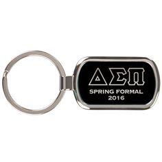 1-Greek Formal Engraved Metal Keychain - GFT090