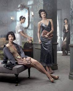 Gisele Bundchen, Carolyn Murphy, Isabeli Fontana & Karen Elson for Louis Vuitton Fall/Winter 2013/2014 Campaign by Steven Meisel | The Fashionography