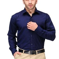 Formals-by-Koolpals-Cotton-Blend-Shirt-Navy-Blue-Solid-0