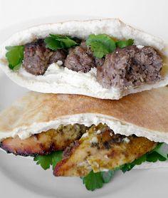 Chicken Shawarma and Beef Meatballs Shawarma