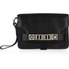 Proenza Schouler PS11 textured-leather clutch via Polyvore