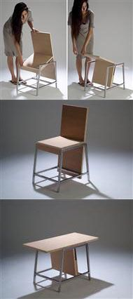 XY Transformable Chair to Table by Aissa Logerot #chair #table