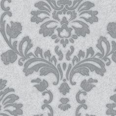 56 sq. ft. Silver and Gray Dynasty Wallpaper, Silver & Gray