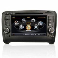 Autoradio Audi TT - Double Din Autoradio GPS Bluetooth DIVX DVD CD USB SD RDS IPOD 3G Radio TV Pour Audi TT (2006-2012) Prix spécial : 277,99 €