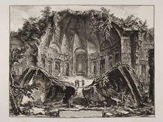 Scene of the Ruins of the Temple of Canopus at Villa Hadrian in Tivoli.