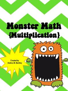 Number and Algebra, Multiplication/Division -Multiplying practice made fun with a monster theme!   $2 Download  Source: http://www.teacherspayteachers.com/Product/Monster-Math-Multiplication-314233