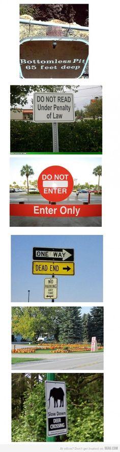 Stupidity Level : Signs