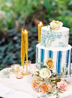 12 Fun Floral Spring Wedding Cakes - Inspired By This