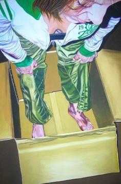 Zingarelli Laura IN THE BOX acrilico su tela 120x60cm