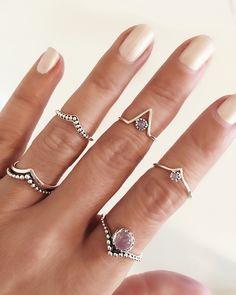 GypsyLovinLight in new rainbow moonstone rings