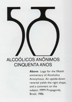 logo for the 50th Anniversary of Alcoholics Anonymous  (from The Art of Looking Sideways)