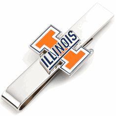 University Of Illinois Illini Tie Bar, NCAA College University Cufflinks from Cufflinksman