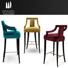 EANDA barstool, a beautiful and elegant upholstery choice for ecletic interiors | Interior Design and Style by Carden Cunietti | www.brabbu.com | info@brabbu.com