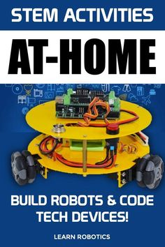 Learn STEM at home with this list of robotics and coding projects. Great for students who are home and parents and teachers looking for tech resources for homeschooling.