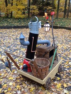 Beauty and the Beast, wood chopping contraption