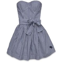 A&F Striped Dress Sweet little A&F striped balconet top dress. Only worn once! Abercrombie & Fitch Dresses Mini