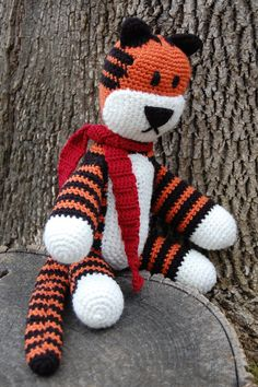 Hobbsy the Tiger  Hobbes Inspired Crocheted by JJBabyBoutique, $65.00