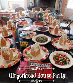 How to host a gingerbread house party #Christmas #Childen #parties