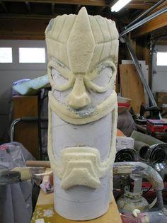 Foam Tiki Totem Pole