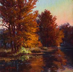Quiet Waters by Mark Haworth Oil ~ 12 x 12