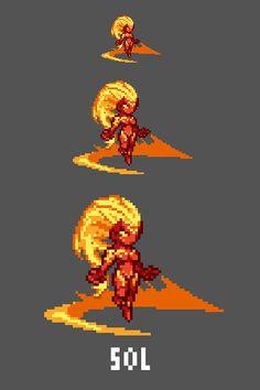 Sol - Goddess of the Sun Emote / Sprite we made for Smitewww.twitch.tv/smitegame