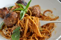 The Best Ever Spaghetti and Meatballs {Copycat from Pourhouse in Vancouver, BC}