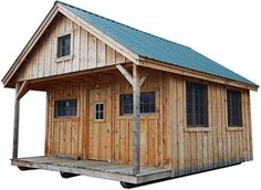 16x20 Timber Frame Post and Beam Vermont Cottage Kit with Loft. Pre-Cut Kit with Step-by-Step DIY Instruction Plans.  #ad #tinyhousemovement #tinyhouses #tinyhouseonwheels #smallhouse #smallhouseplans #tinyhomes #tinyhomescost #tinyhomesideas