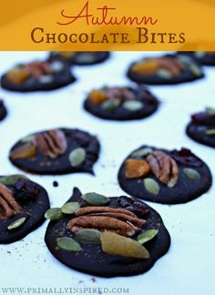 Bites of Autumn goodness in every bite of these homemade, easy chocolate bites.