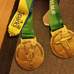 Both sides of our (now sold out) Gold Rush virtual race medal! Gold Rush, Racing, Auto Racing
