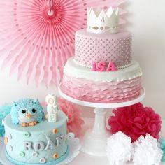 Owl cake & princess cake
