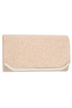 Glittery Detailed Metal Accent Evening Clutch Bag