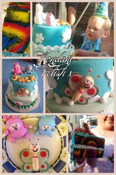 Fondant Fetish - Billy Bam Bam baby tv cake Bam Bam Baby Tv, Billy Bambam, Baby Tv Cake, Twin Boys, 1st Birthday Parties, First Birthdays, Fondant, Cake Decorating, Cakes