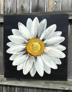 Your place to buy and sell all things handmade Daisy Painting, Summer Painting, Acrylic Painting Canvas, Daisy Art, Tanjore Painting, Mini Canvas Art, Outdoor Art, Flower Art, Watercolor Art