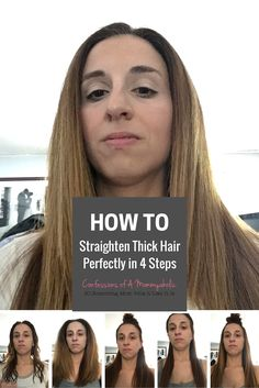 Recently used Nexxus Hair New York Hair Care for the first time and showing 4 easy steps how to straighten thick hair.