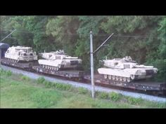 News Prepper WWIII-WARNING TO PUTIN !Trainloads of US Battle Tanks On The Move…