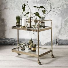 """Learn even more info on """"gold bar cart styling"""". Browse through our site. Diy Bar Cart, Bar Cart Styling, Bar Cart Decor, Brass Bar Cart, Gold Bar Cart, Bar Trolley, Drinks Trolley, Bar Carts, Unique Furniture"""