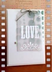 Creative Love Affair: Stencilled - Day 1, Love card