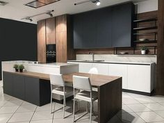 Modern Kitchen Interior Popular Contemporary Kitchen Design Ideas 28 - A contemporary kitchen design means different thing to different people. For some it is a clean bold look, for others […] Modern Kitchen Cabinets, Kitchen Layout, Rustic Kitchen, Kitchen Decor, Oak Cabinets, Kitchen Backsplash, Modern Kitchen Furniture, Timber Kitchen, Plywood Kitchen