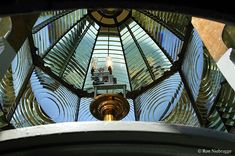 Looking up inside a Fresnel Lens,Heceta Head Lighthouse, Oregon Coast