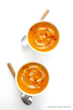 Slow Cooker butternut squash soup + 25 Delicious Crockpot Meals for Busy Families