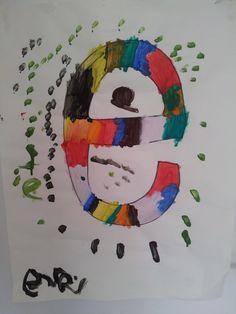 Eva schildert het thema 'Letterwinkeltje', april 2012