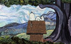 Snoopy Van Gogh <3