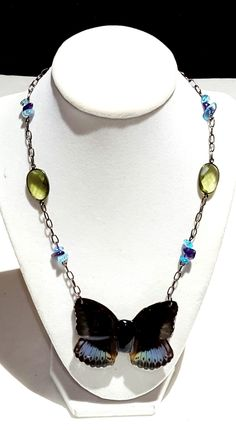 real butterfly wing necklace. Justice butterfly wing jewelry JUSARCH