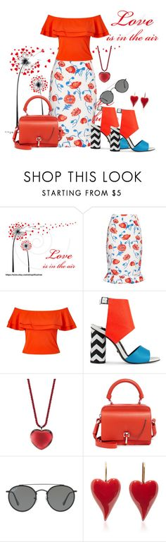 """❤❤❤❤❤"" by edeldiva ❤ liked on Polyvore featuring Oscar de la Renta, Miss Selfridge, Kat Maconie, Baccarat, Carven and Ray-Ban"